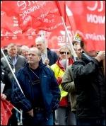Unite protest, photo P Mattsson