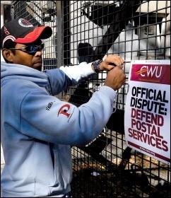 CWU strike 2009, photo Paul Mattsson