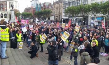 Rally in Leeds, HE strike, 31.10.13, photo by I Dalton