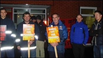 Salford firefighters on strike, photo by Paul Gerrard