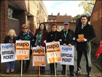 Napo pickets in Canterbury, 5.11.13, photo by Dave Semple
