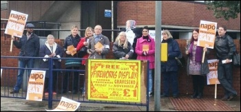 Napo strikers in Gravesend