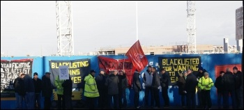 Blacklist Support Group demo, new hospital, Alder Hey, photo Harry Smith