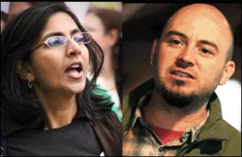 Kshama sawant and Ty Moore, photo by Socialist Alternative (USA)