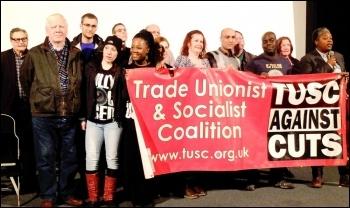 Hackney Trade Unionist and Socialist Coalition candidates, photo Hackney TUSC
