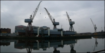 BAE Shipyard in Govan, Glasgow, photo by wiki commons: user:bjmullan