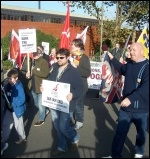 Part of the 16 November demo to save Portsmouth shipyards, photo Dave Carr