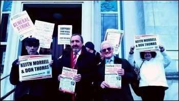 Councillors Against Cuts, Don and Keith (centre), Southampton