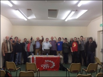 PSoL councillor Paulo Eduardo Gomes at the Swansea Socialist Party meeting on 21 November 2013