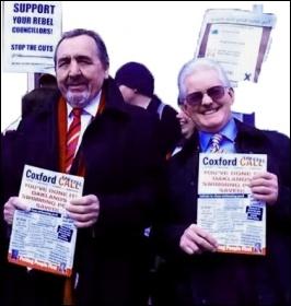 Southampton Councillors Against Cuts, Keith Morrell and Don Thomas, photo Southampton TUSC