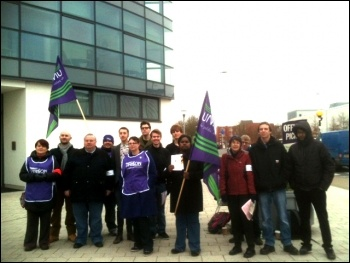 On strike at Brunel University on 3 December
