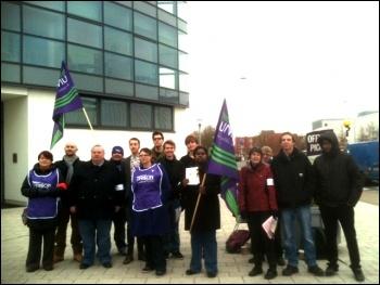 On strike at Brunel University on 3 December