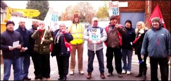On strike at Southampton University, 3 December 2013