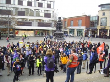 Sheffield University Staff rally 3/12/13, photo A Tice
