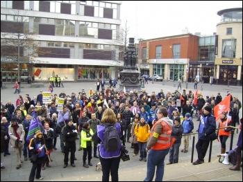 Sheffield University Staff rally 3/12/13, photo A Tice