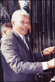 Nelson Mandela at Downing Street in 1996, photo by Brent Moore