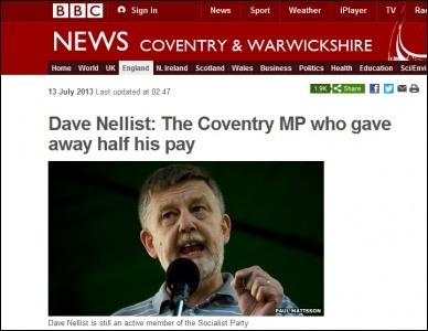 Dave Nellist interviewed on BBC website, photo by BBC