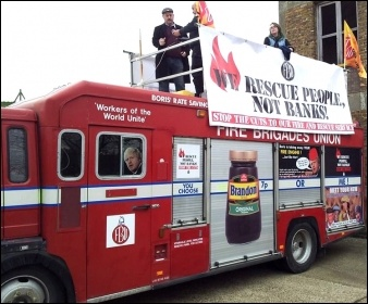 Rally against Surrey fire station closure, 7 December 2013