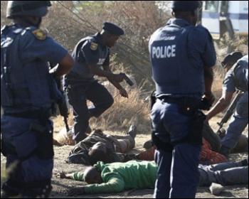 Marikana massacre, August 2012
