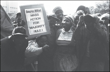 Supporters of the CWI in South Africa, 1992, photo by Mark Yate