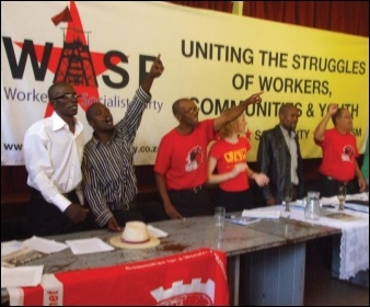 Launch meeting of Workers and Socialist Party (WASP) in South Africa, March 2013, photo Sean Figg