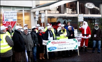 Brentwood Visteon pensioners' protest, 18.12.13
