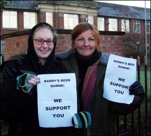 Strike at Knowsley Community College, 17.12.13
