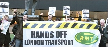 Protesting against the proposed London Underground ticket office closures and job cuts, photo Paul Mattsson