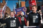 BFAWU members taking part in the TUC Manchester NHS demo in September 2013, photo Paul Mattsson