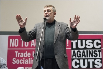 TUSC chair Dave Nellist at last year's TUSC conference, photo Paul Mattsson
