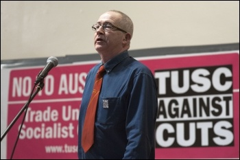 Mike Sargent; TUSC conference 1.2.14., photo by Paul Mattsson