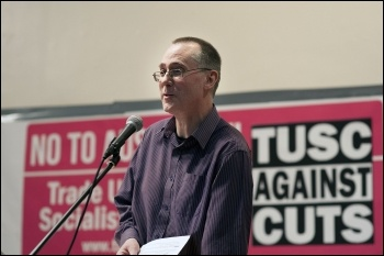 Clive Heemskerk; TUSC conference 1.2.14., photo by Paul Mattsson