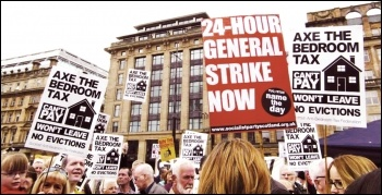 One of the mass protests in the campaign to defeat the bedroom tax in Scotland