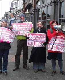 Campaigning for rent control in Waltham Forest, East London, photo by Sarah Wrack