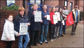 Anti-Atos demo in Plymouth, photo by Sam