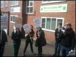 Nuneaton YFJ protest outside MP's office