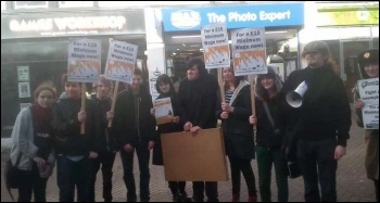 Nuneaton YFJ protest in town centre