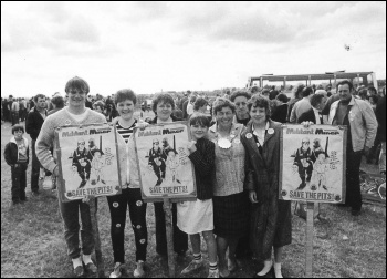 A miners rally in Northumberland during the great strike, photo D Pearson