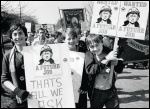 Miners' children: A future job - that's all we ask, photo John Birdsall