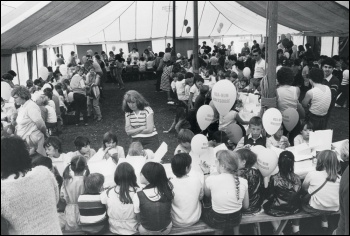 An NUM holiday camp in Blackpool for miners' children