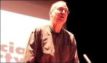 Clive Heemskerk speaking on TUSC, photo Senan