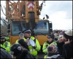 Barton Moss anti-fracking protesters, March 2014, photo D Murphy