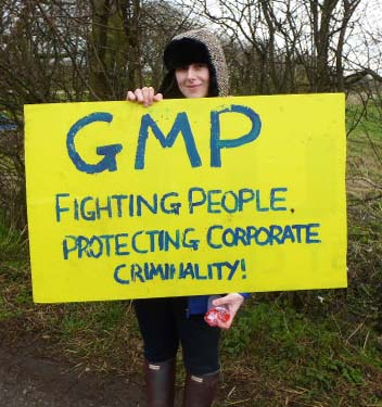 Barton Moss anti-fracking protester, March 2014, photo D Murphy