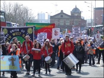 Marching through Bristol, 26.3.14, photo by Matt Carey