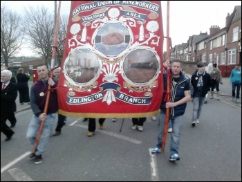 Commemorating the miners'  strike  in Edlington, Doncaster on Saturday 5 April 2014 on the the 30th anniversary.