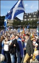 Rallying for a yes vote in Edinburgh, photo Matt Dobson