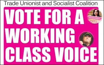 Vote for a Working Class Voice , photo The Socialist
