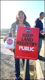 Land Registry strike, Swansea, 14.5.14, photo R Job