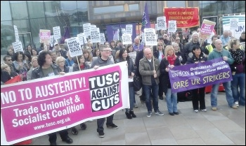 Care UK strikers and supporters protest in Yorkshire, Easter 2014