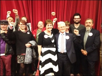 Keith Morrell re-wins seat in Coxford, 22.5.14, photo N Chaffey